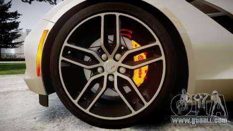 Chevrolet Corvette C7 2014 Tuning for GTA 4 back view