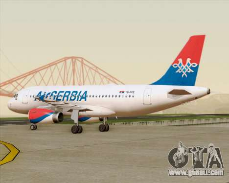 Airbus A319-100 Air Serbia for GTA San Andreas side view