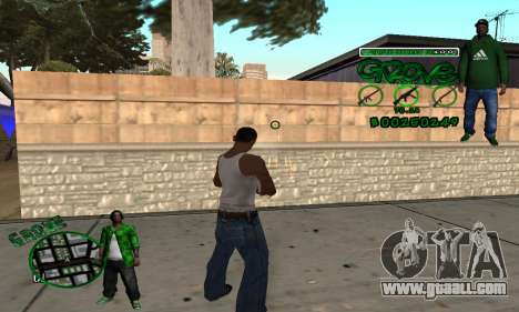 C-HUD Groove for GTA San Andreas third screenshot