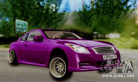 Infiniti G37 for GTA San Andreas