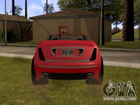 Cognoscenti Cabrio for GTA San Andreas back left view