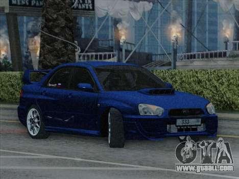 Subaru impreza WRX STI 2004 for GTA San Andreas right view