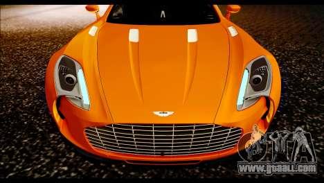 Aston Martin One-77 Black for GTA San Andreas right view