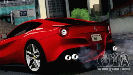 Ferrari F12 Berlinetta 2013 for GTA San Andreas back left view