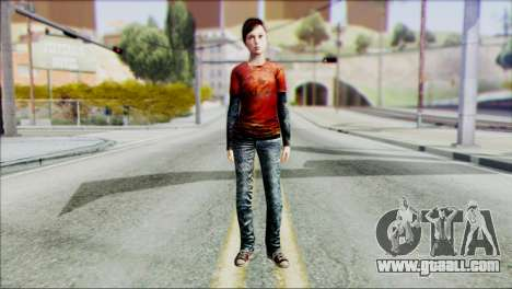 Ellie from The Last Of Us v1 for GTA San Andreas