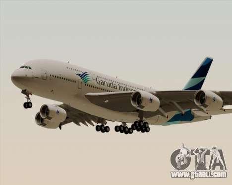 Airbus A380-800 Garuda Indonesia for GTA San Andreas inner view