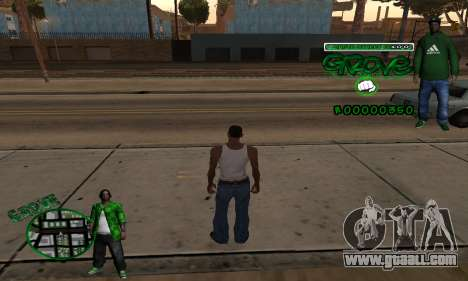 C-HUD Groove for GTA San Andreas