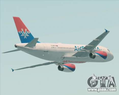 Airbus A319-100 Air Serbia for GTA San Andreas back view