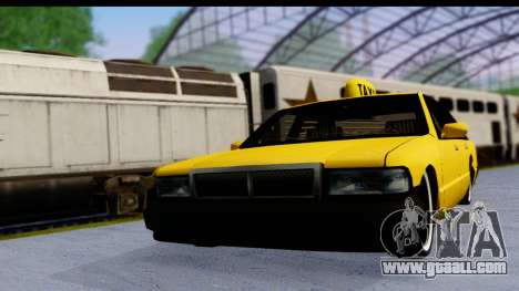 Slammed Taxi for GTA San Andreas back left view