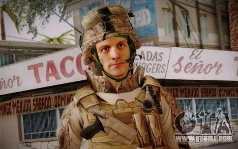 Blackburn from Battlefield 3 for GTA San Andreas third screenshot