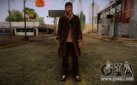 Aiden Pearce from Watch Dogs v10 for GTA San Andreas