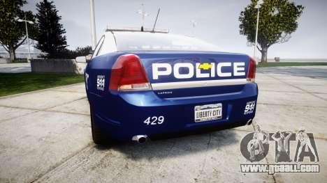 Chevrolet Caprice 2012 LCPD [ELS] v1.1 for GTA 4 back left view