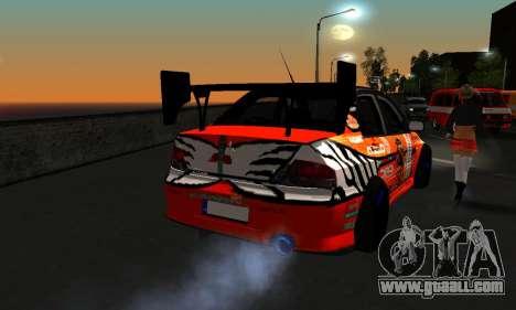 Mitsubishi Lancer Evo 9 Kumakubo Team Orange for GTA San Andreas back view