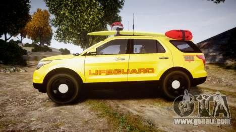 Ford Explorer 2013 Lifeguard Beach [ELS] for GTA 4 left view