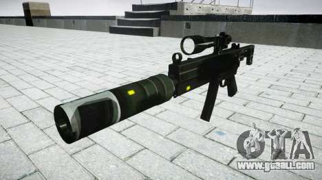 Tactical submachine gun MP5 target for GTA 4