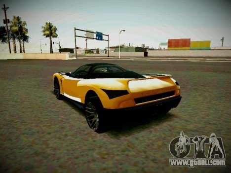 Cheetah из GTA 5 for GTA San Andreas left view