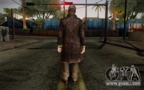 Aiden Pearce from Watch Dogs v2 for GTA San Andreas second screenshot
