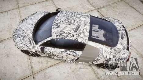 Audi R8 plus 2013 HRE rims Sharpie for GTA 4 right view