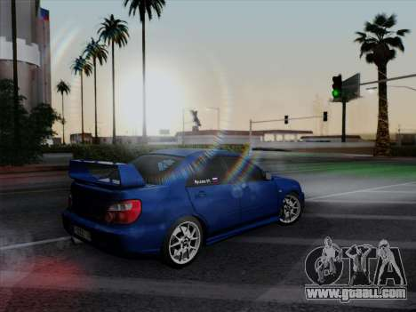 Subaru impreza WRX STI 2004 for GTA San Andreas back view