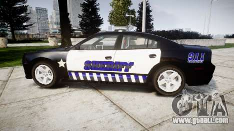 Dodge Charger RT 2014 Sheriff [ELS] for GTA 4 left view