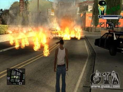 C-HUD Grove Street Gang for GTA San Andreas third screenshot