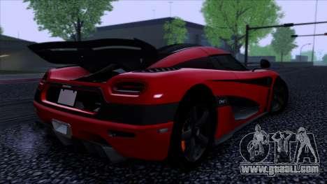 Koenigsegg One:1 2014 for GTA San Andreas left view