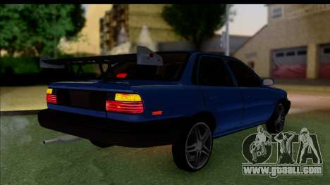 Toyota Corolla 1990 4-Door Sedan for GTA San Andreas left view