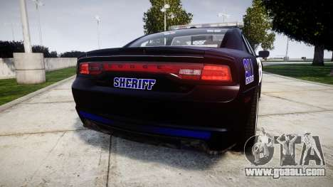 Dodge Charger RT 2014 Sheriff [ELS] for GTA 4 back left view