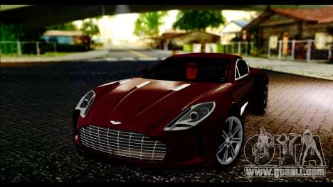 Aston Martin One-77 Black and Red for GTA San Andreas