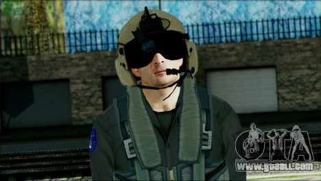 USA Helicopter Pilot from Battlefield 4 for GTA San Andreas third screenshot