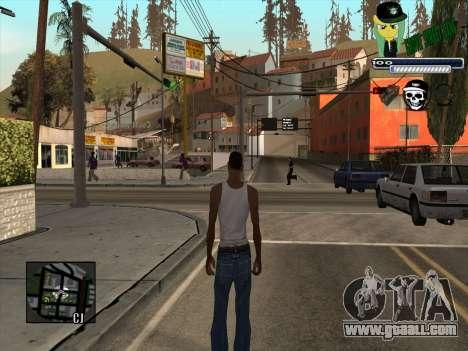 C-HUD Grove Street Gang for GTA San Andreas