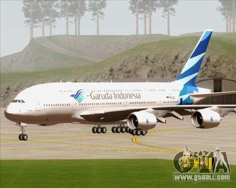 Airbus A380-800 Garuda Indonesia for GTA San Andreas back view