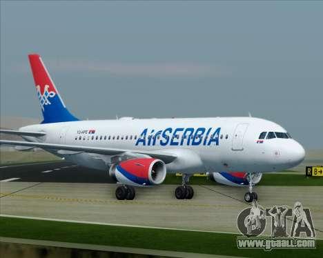 Airbus A319-100 Air Serbia for GTA San Andreas interior