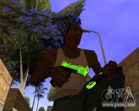 Chrome Green Weapon Pack for GTA San Andreas forth screenshot
