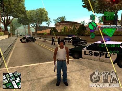 C-HUD Grove Street TAWER for GTA San Andreas