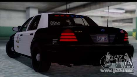 LAPD Ford Crown Victoria Slicktop for GTA San Andreas left view