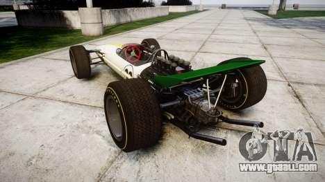Lotus Type 49 1967 [RIV] PJ21-22 for GTA 4 back left view