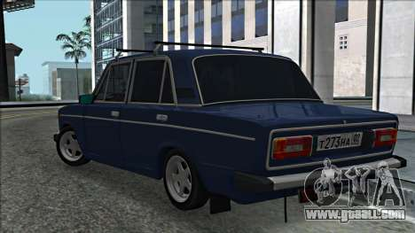 ВАЗ 2106 Russian style 2.0 for GTA San Andreas back left view