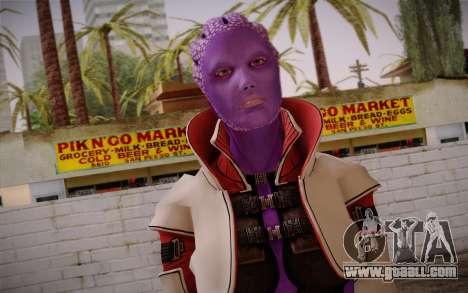Halia from Mass Effect 2 for GTA San Andreas third screenshot