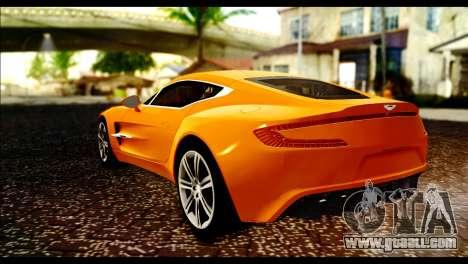 Aston Martin One-77 Black for GTA San Andreas left view