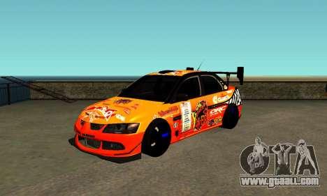 Mitsubishi Lancer Evo 9 Kumakubo Team Orange for GTA San Andreas