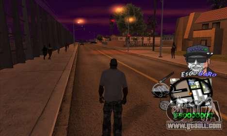 C-HUD by Travis Escobaro and Matthew Escobaro for GTA San Andreas third screenshot