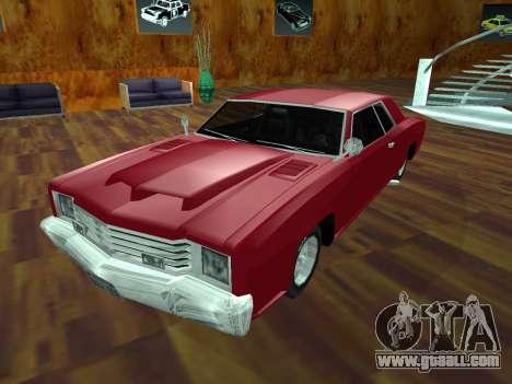 Buccaneer Turbo for GTA San Andreas inner view