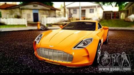 Aston Martin One-77 Black for GTA San Andreas