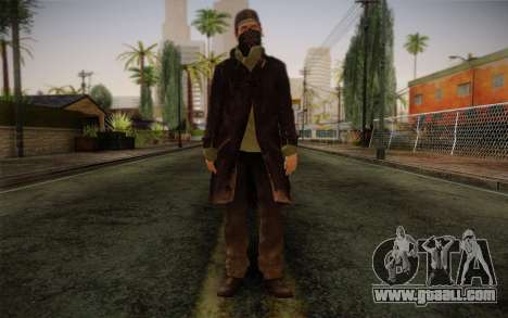 Aiden Pearce from Watch Dogs v2 for GTA San Andreas