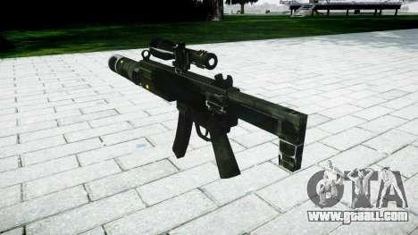 Tactical submachine gun MP5 target for GTA 4 second screenshot