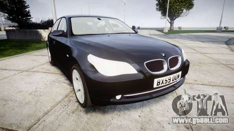 BMW 525d E60 2009 Police [ELS] Unmarked for GTA 4