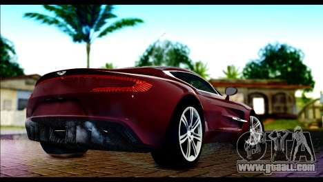 Aston Martin One-77 Black and Red for GTA San Andreas left view