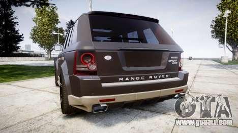 Range Rover Sport Kahn Tuning 2010 for GTA 4 back left view