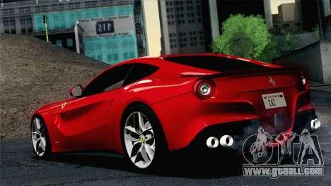 Ferrari F12 Berlinetta 2013 for GTA San Andreas left view